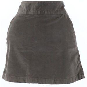 Banana Republic Gray Corduroy Mini Skirt Size 4